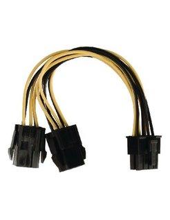 Interne stroom splitterkabel EPS 8-pins - 2x PCI Express 0,15 m