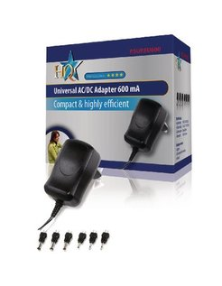 HQ Universele AC/DC  Adapter 600mA P.SUP.EU600
