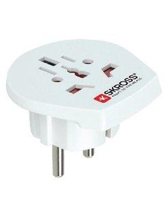 Skross World travel adapter to Europe blister white SKR1500211