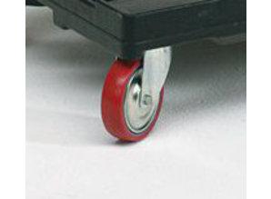Zwenkwiel voor transportroller