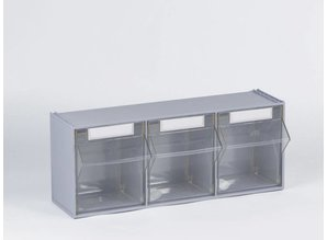 Kantelbakhouder met 3 bakken, grijs (Versie 2019)