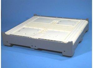 Smartbox 821 liter op 3 sleden, ivoor