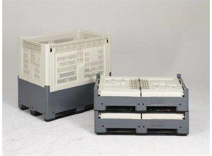 Smartbox 655 liter op 2 sleden, ivoor