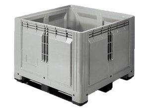 Palletbox 900 liter op 3 sleden, grijs