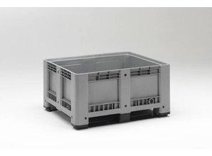 Palletbox 430 liter op 2 sleden, grijs