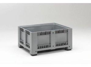 Palletbox 430 liter op 4 poten, grijs