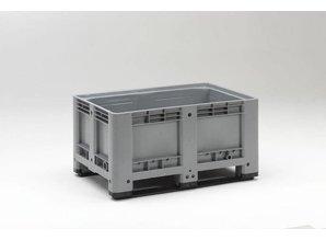 Palletbox 333 liter op 2 sleden, grijs
