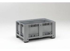Palletbox 333 liter op 4 poten, grijs