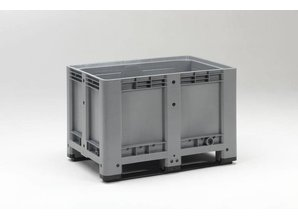 Palletbox 475 liter op 2 sleden, grijs