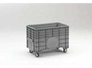Grootvolume bak perfo 300 liter op 4 wielen, grijs