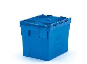 Distributiebak 25 liter incl. etiketvenster, blauw