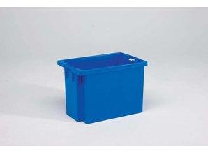 Draaistapelbak 70 liter, blauw