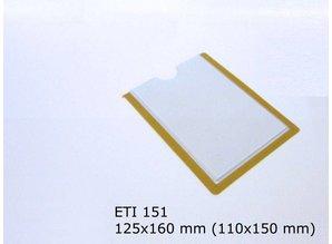 Zelfklevende etikethouder, transparant 110x150 zelfklevend