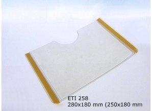 Zelfklevende etikethouder, transparant 250x180 zelfklevend