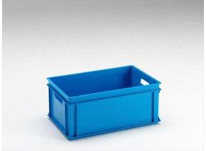 Rako-bak 40 liter met open grepen, grijs, blauw en rood