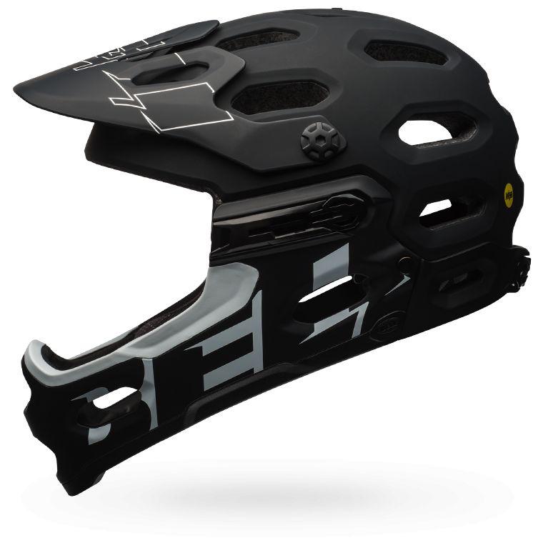 Bell Super 3R matt schwarz/weiss