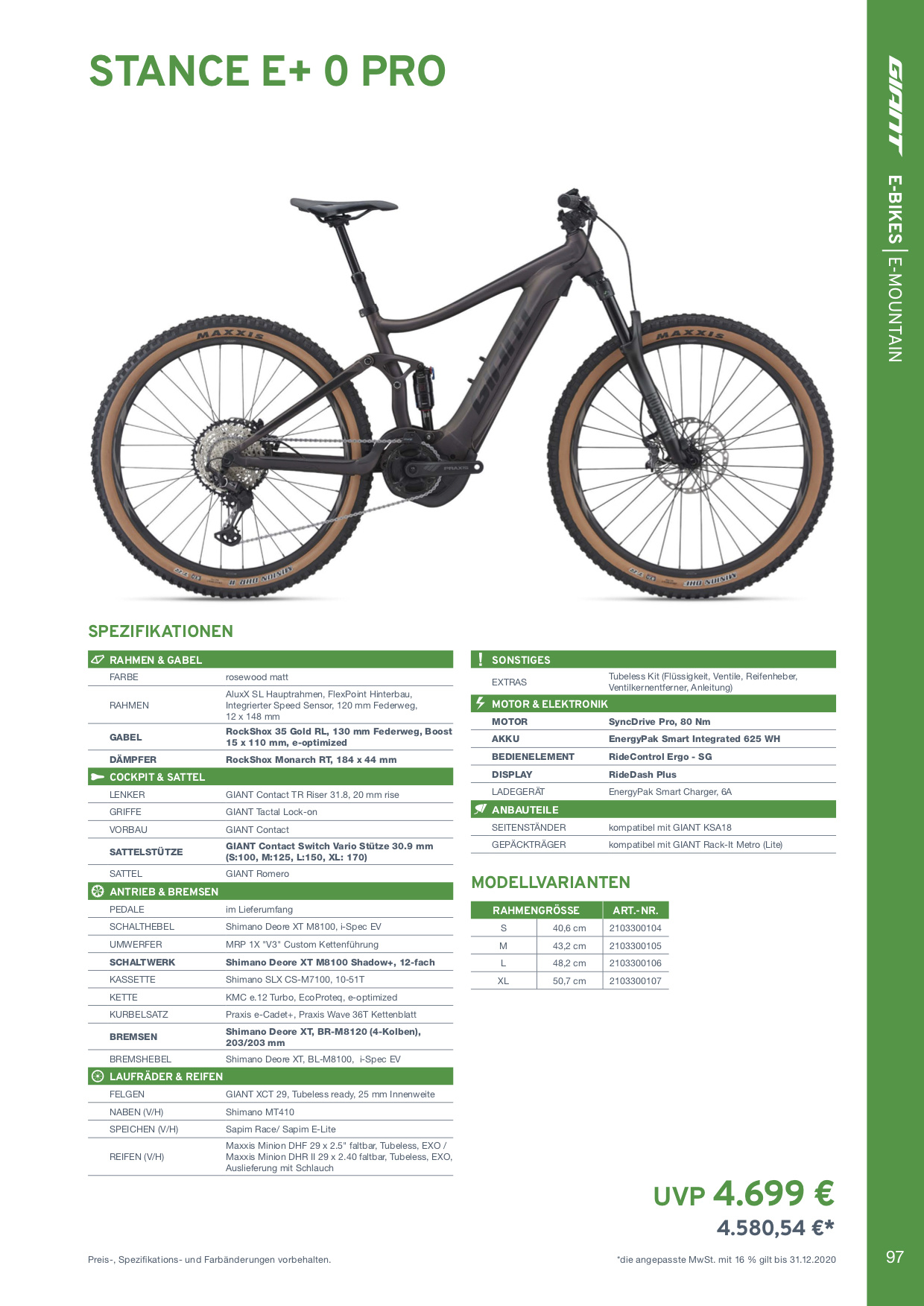 GIANT Stance E+ 0 PRO Modell 2021