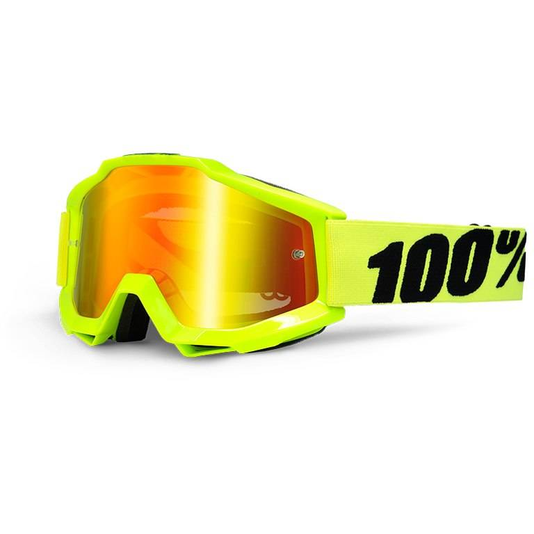 100% Accuri Goggle mirror lens -fluo yellow-