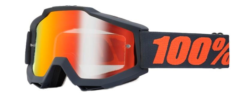 100% Accuri Goggle mirror lens -gunmetal-