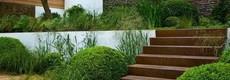 Buiten trappen van cortenstaal