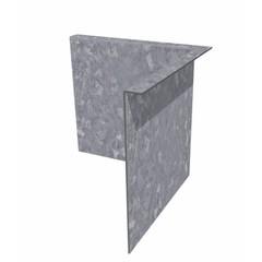 Hoek kantopsluiting verzinkt staal gezet