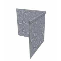 Hoek kantopsluiting verzinkt staal geplet