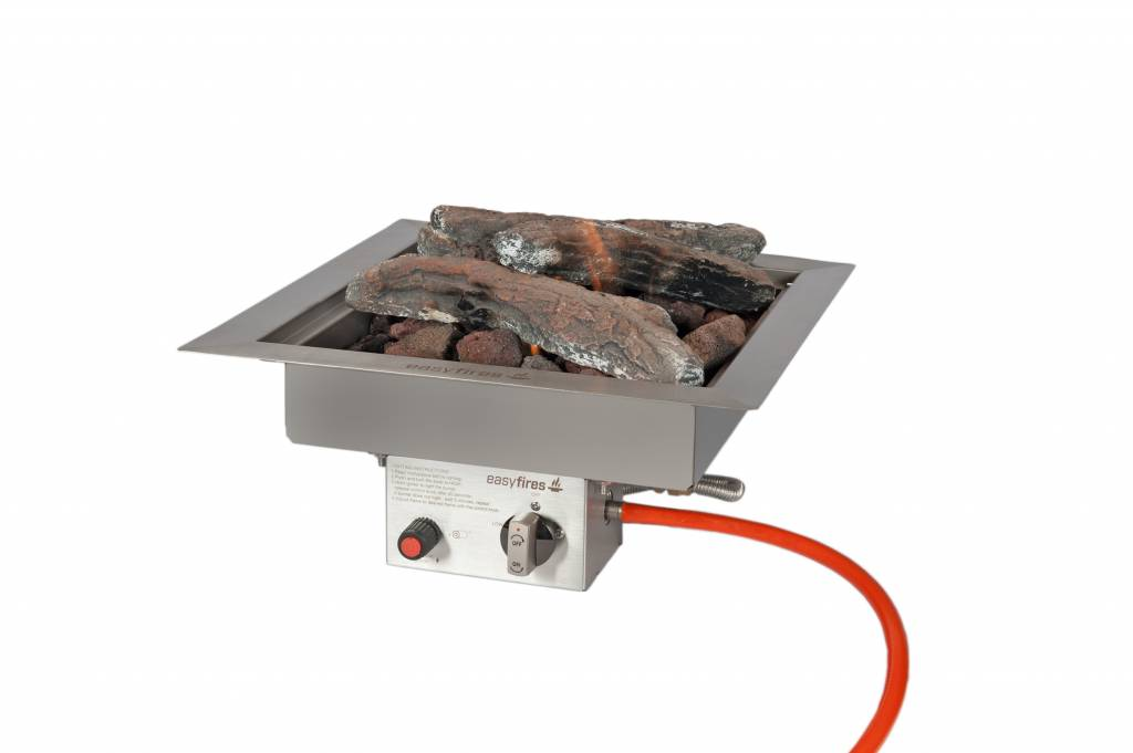 Easy Fires inbouwbrander vierkant 40x40x165cm.