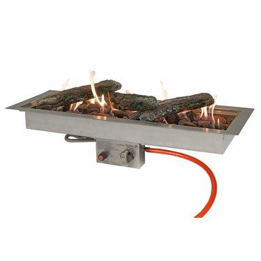 Easy Fires inbouwbrander rechthoek 76x26x16,5cm.