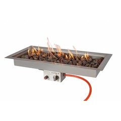 Easy Fires inbouwbrander rechthoek 78x38cm.