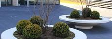 Polymeer betonlook plantenbakken