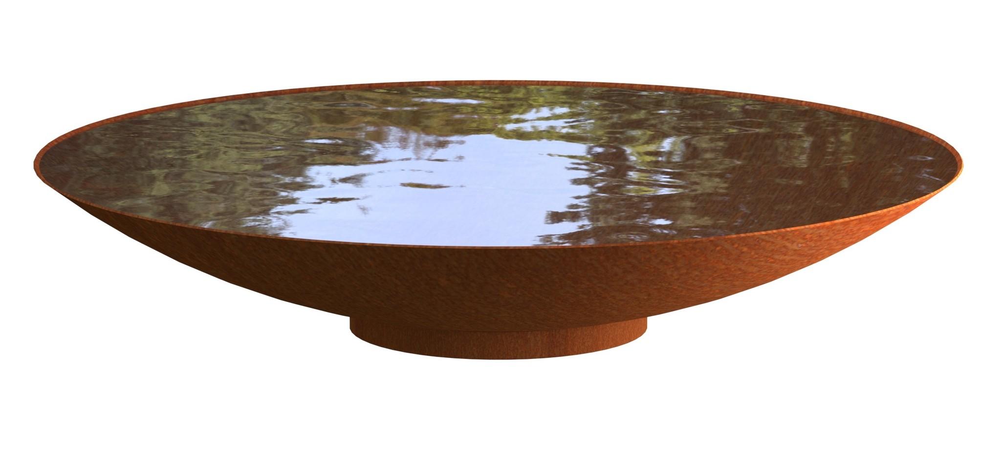 Waterschaal Cortenstaal 200 cm.