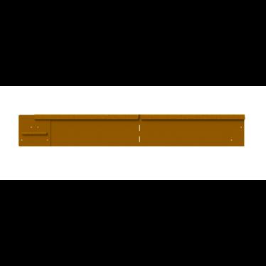 Straight Curve flexline hoekelement 150mm. cortenstaal