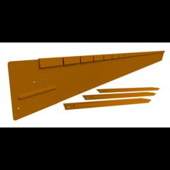 Straight Curve kantopsluiting cortenstaal pakket 150mm. cortenstaal