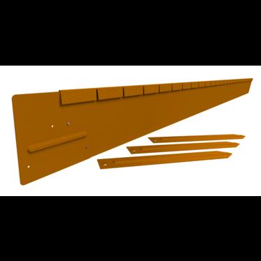 Straight Curve Flex Package 150 mm. kantopsluitingen cortenstaal