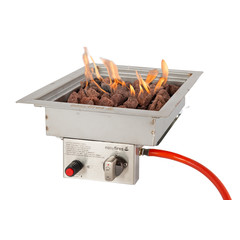 EasyFires  Easy Fires inbouwbrander vierkant 30x30cm.