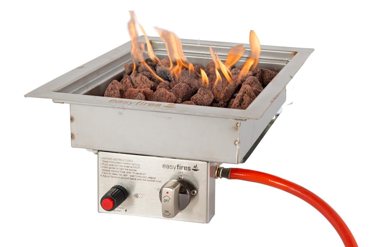 Easy Fires inbouwbrander vierkant 30x30cm.