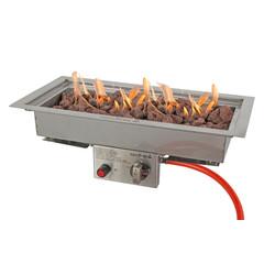 Easy Fires inbouwbrander rechthoek 50x25cm.