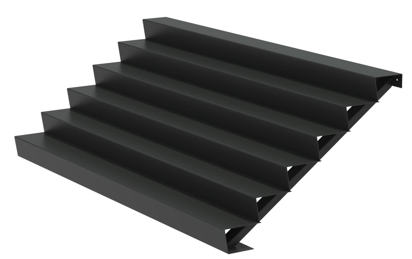 Aluminium trap 300cm. breed