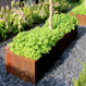 Cortenstaal plantenbak Andes 100x40x80cm.