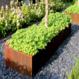 Cortenstaal plantenbak Andes 120x50x50cm.