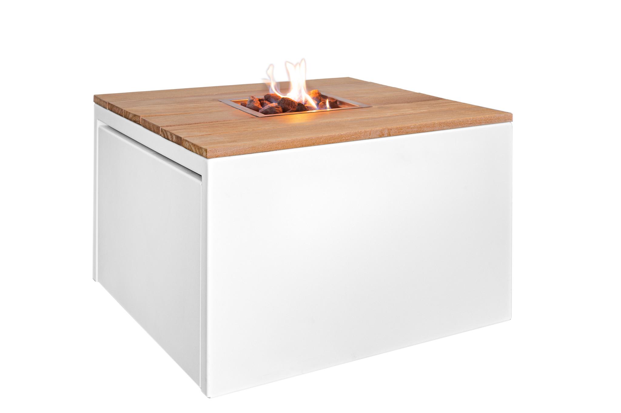 Easy Fires vuurtafel Cube vierkant wit