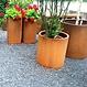 Cortenstaal plantenbak Atlas zonder bodem 150x40cm.