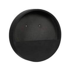 Muur bloempot Wally M zwart