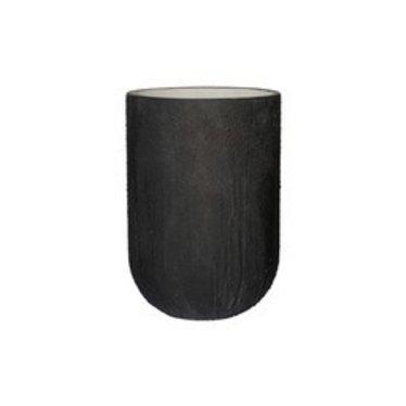 Ficonstone bloempot Cody high Burned black 35x51cm.