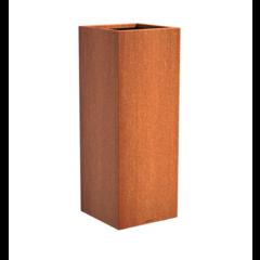 Senzzo cortenstaal plantenbak 37x37x100cm.