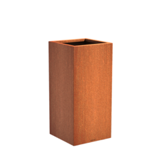 Senzzo cortenstaal plantenbak 37x37x80cm.