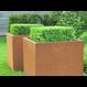 Cortenstaal plantenbak Andes met wielen 150x50x50cm.