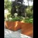 Cortenstaal plantenbak Andes met wielen 120x50x50cm.