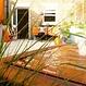 Watertafel cortenstaal rechthoek 400x100x40cm.