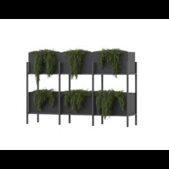 Polyester plantenbak Screen 204x50x135cm.
